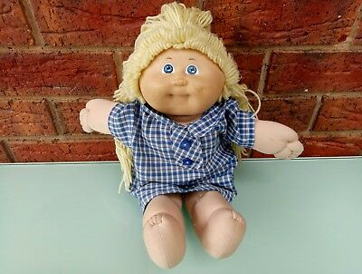 Vintage Cabbage Patch Kids Doll CPK Toy Collectible 1982 School Girl Dress