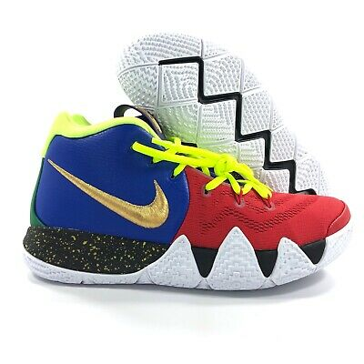 ef040b37a477 Nike Kyrie 4 By You iD Blue Red Volt Green Gold White Black Men s 7.5  Women s