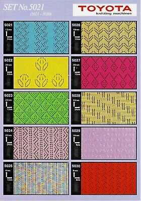 Toyota PUNCHCARDS - CARD SET 5021 Lace **NEW** 10 Cards NO. 5021-5030