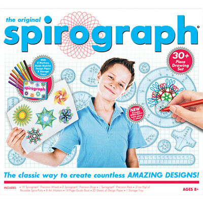 Original Spirograph Markers Kit Kids Create Drawing Art Design Draw Craft