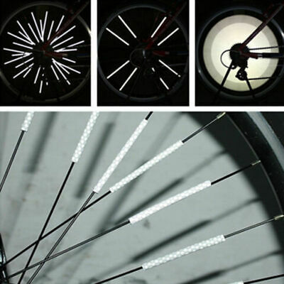 12pcs Bike Cycling Bicycle Wheel Spoke Reflector Reflective Mount Clip Tube 80mm
