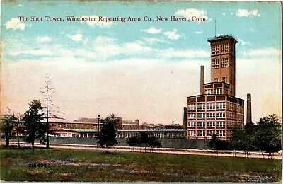 Shot Tower, Winchester Repeating Arms Co., New Haven CT Vintage Postcard Q05