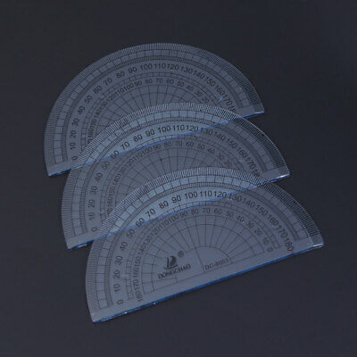 50pcs Plastic Measuring 180 Degree Protractor Ruler Drawing Design Tools