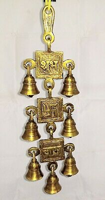 Indian Traditional Brass Wind Chime Antique Look Pleasant Sound Positive Energy