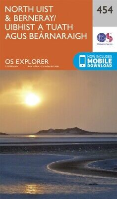 OS Explorer Map (454) North Uist and Berneray/Uibhist a Tuath Agus ...