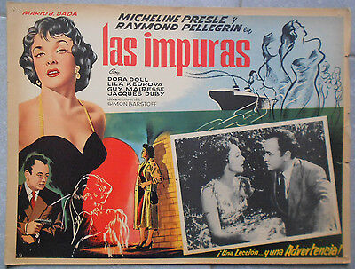 Lobby Card Mexican the Impure Raymond Pellegrin Micheline Presle Dora Doll