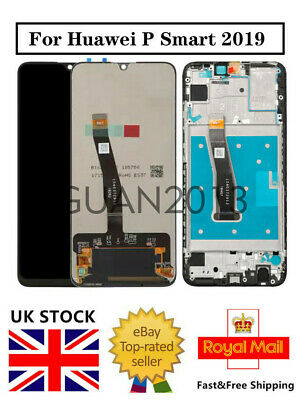 LCD TOUCH SCREEN DIGITIZER ± FRAME FOR Huawei P Smart 2019 POT-LX1 LX1AF LX2J GO