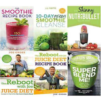 Super Blend Me,The Reboot With Joe Juice Diet Recipe Book 6 Books Collection Set