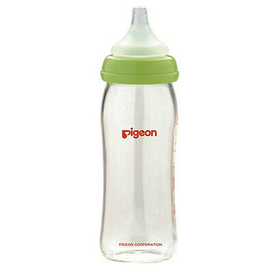 Pigeon Baby 0m+ Softouch Glass Peristaltic Plus 240ml Feeding Bottle w/ M Teat