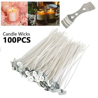 100PCS Candle Wicks 6 Inch Cotton Core Candle Making Supplies Pretabbed NEW