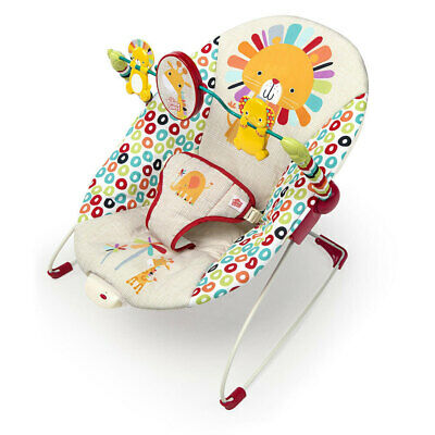 Bright Starts Unisex Playful Pinwheels Bouncer/Rocker f/ Newborn/Baby/Infant 0m+