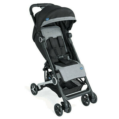 Chicco Miinimo Adjustable Stroller Compact Travel Pram f/ Baby Infant Blacknight