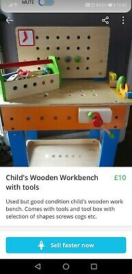 Enjoyable Ikea Toy Tool Bench Wooden 10 00 Picclick Uk Gmtry Best Dining Table And Chair Ideas Images Gmtryco