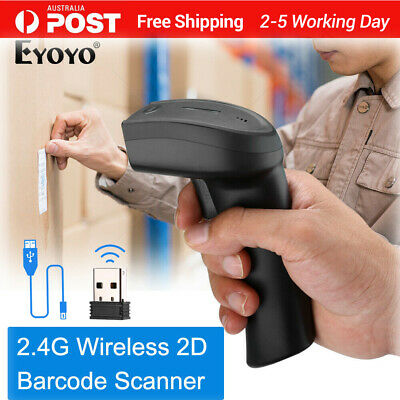 Eyoyo Handheld 2 in 1 2.4G Dongle Wireless & Wired 1D 2D QR Barcode Scanner AU