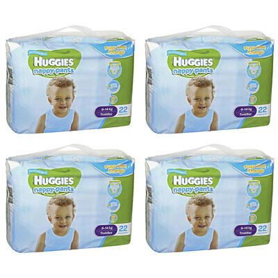 88PK Huggies Toddler Boys Nappy/Diaper Pants Fuss Free Change Size 9-14kg Bear