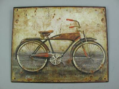 Metal Sign,Advertisement Sign,Men's Bicycle Engineering Wc Wall Sign 7 7/8x9
