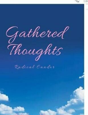 Gathered Thoughts Radical Candor by Valen Hart 9781984553669 | Brand New