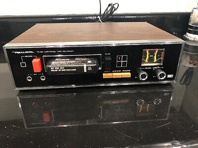 Vintage Realistic Model TR-881 8 Track Cartridge Recorder Player Deck Tested!
