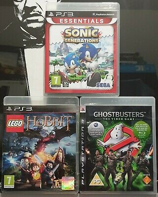 3× Sony PS3 Games | LEGO: THE HOBBIT/GHOSTBUSTERS/SONIC GENERATIONS | Bundle🕊