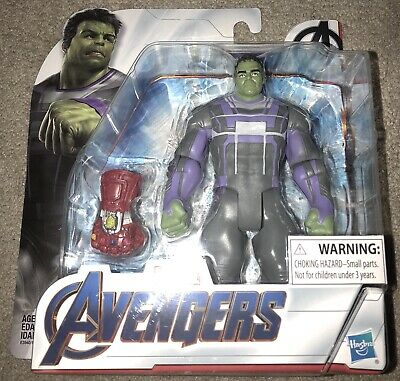 Marvel Avengers Endgame Hulk with Infinity Gauntlet Stones Action Figure IN HAND