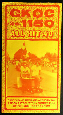 1981 CKOC All Hit 40 Radio Music Survey Chart Ozzy Osbourne Phil Collins