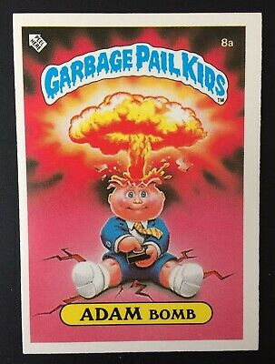 Adam Bomb 8a~UK Garbage Pail Kids Series 1(1985)Cheaters License Back~Pack Fresh