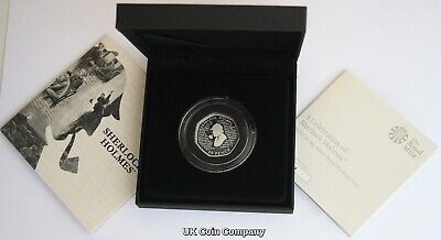 2019 Sherlock Holmes Conan Doyle Silver Piedfort Royal Mint 50p Fifty Pence Coin