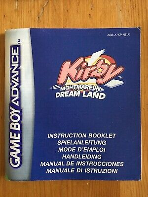 Kirby Nightmare In Dream Land - Nintendo Gameboy Adance (gba) - Manual Only