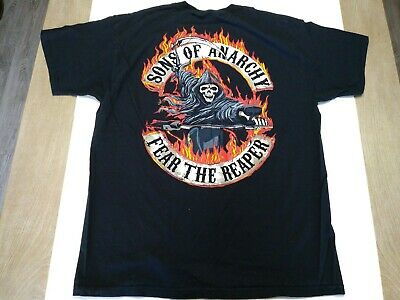 f689b845 Sons of Anarchy - Samcro Skull Fear the Reaper T-Shirt Mens Size XL  Motorcycle