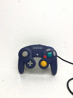 Official Nintendo Branded GameCube Violet/Clear DOL-003 Controller Purple