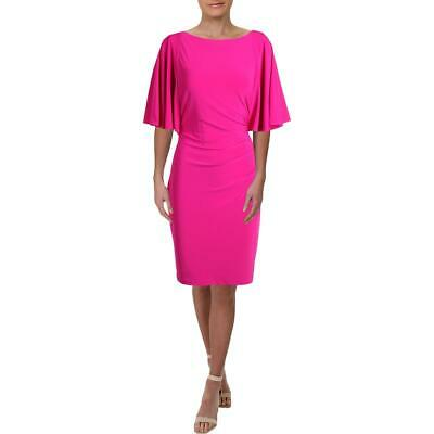 Lauren Ralph Lauren Womens Jessup Pink Jersey Cocktail Dress Plus 18 BHFO 4827