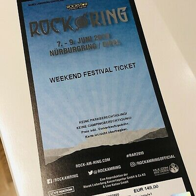 +++ Rock am Ring 2019 - Weekend Festival Ticket - Hardcover +++