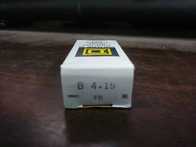 Square D B 4.15 B4.15 Overload Relay Thermal Unit Set Of 3 New In Box