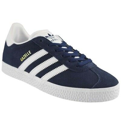 superior quality df25d 0bb50 Scarpe sportive bambino ADIDAS Gazelle PS in nabuk blu e bianco BY9162