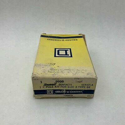 Square D 9998 NIB 1P Contact Kit For Size 3 Starters See Pictures Missing 2 Pole