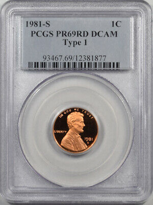 1981-S Proof Lincoln Cent - Ty I Pcgs Pr-69Rd Dcam