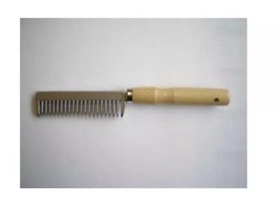 Metal Mane Pulling Comb, Wooden Handle, FREE UK Postage