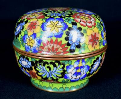 Antique Chinese Cloisonne Lidded Bowl Early 20thC