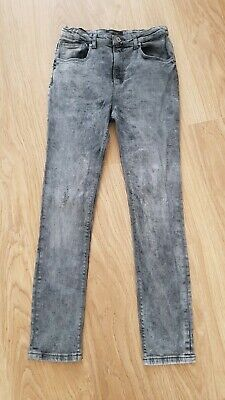 Boys River Island Skinny Jeans Age 11 Years Grey