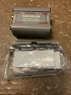 Rdl Av-Hk1 Hum Killer Phono Stereo Audio Isolation Transformer Module