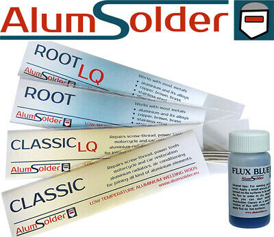 AlumSolder 4 packs of different rods aluminium welding brazing soldering repair