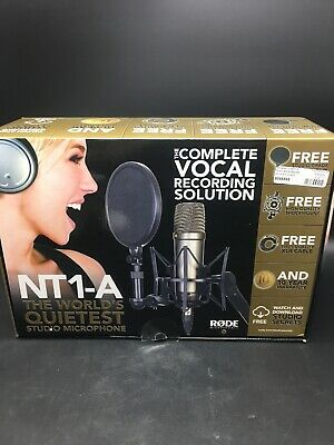 Rode NT1-A studio microphone package mic w/ cable, pop shield, shock mount 85951
