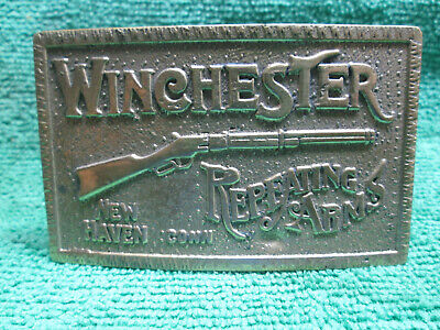 Vintage Winchester Repeating Arms Brass Belt Buckle   RARE