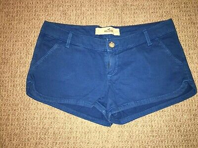 Hollister Womens Classic Stretch Mid Rise Bright Blue Shorts Size 5