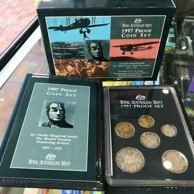 1997 Charles Kingford Smith $1 RAM Six Coin Proof Set with Box & Certificate