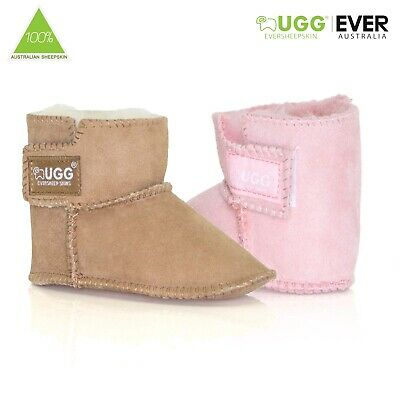 Ugg Boots Baby Infant Booties Kids Australian Sheepskin No Sole Pink Chestnut