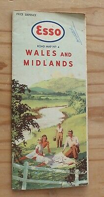 Esso Road Map No.4 Wales and Midlands.
