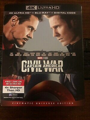 Marvel Captain America Civil War 4K Ultra HD Blu Ray Movie Slipcover