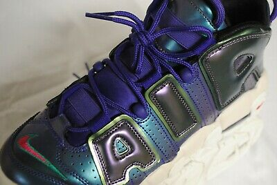 32fb1d2bb9 New Nike Air More Uptempo SE Iridescent shoes Boys 6.5Y Women's 8 (922845-