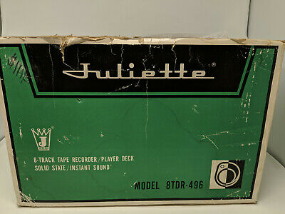 NOS in Damaged Box - Vintage Juliette 8-Track Recorder / Player Deck (8TDR-496)